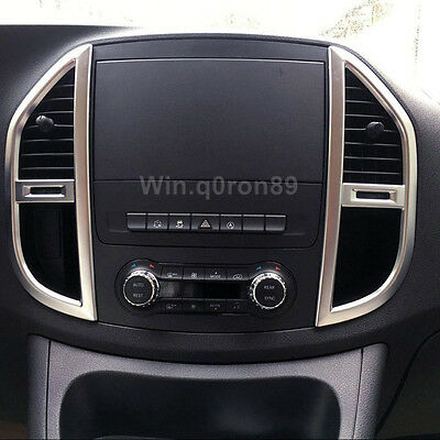 For Mercedes-Benz Vito W447 2014-2017 ABS Inner Console Air Vent Outlet Cover 2*