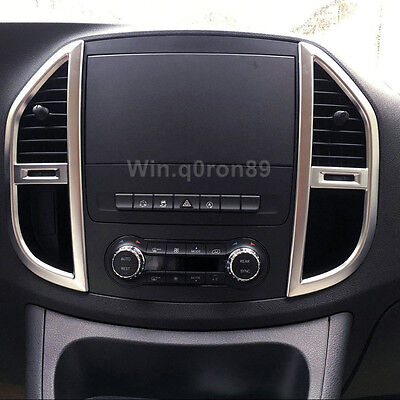 For Mercedes-Benz Vito W447 2014-2018 ABS Inner Console Air Vent Outlet Cover *2