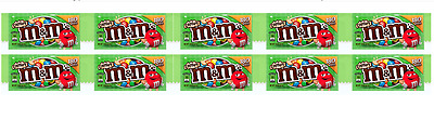 906046 10 x 38.3g PACKETS OF CRISPY M&M'S CHOCOLATE CANDIES GREAT VALUE! USA