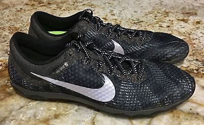 quality design 00e11 b1da3 NIKE Zoom Rival XC Black Grey Silver Cross Country Spikes Shoes Mens Youth 6