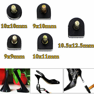 60X Women Fine With High Heel Shoes Tips Replacements Repair Stiletto 5 Sizes UK