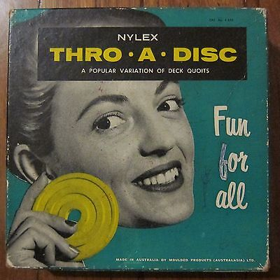 Vintage Nylex Thro-A-Disc Deck Quoits Made In Australia
