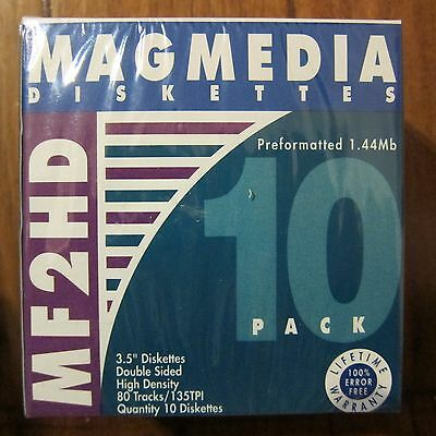 Brand New Magmedia MF 2HD 3.5 Inch Diskettes IBM Formatted Pack Of 10
