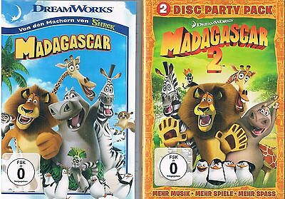 Madagascar 1 & 2 (Special Party Pack Edition) DreamWorks - 3 DVDs