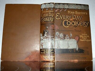 Mrs Beeton's  Cookery- New Edition- HB- C1890+ Ward Lock & Co.