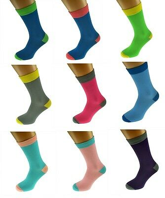 2017 Mens & Women Plain 2tone Colour Soft Cotton Ankle Socks UK 5-12  X6TC001-11