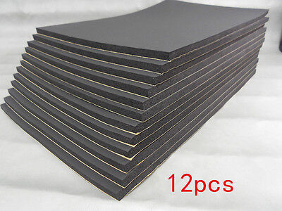 12 Sheets Closed Cell Foam Sound Proofing Deadening Vehicle Car Van Insulat 10mm