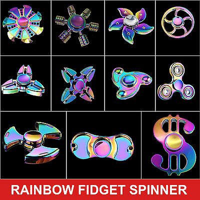 Tri-Spinner Bi-Spinner Rainbow fidget Spinner 3D Finger Hand Spinner Focus Toy