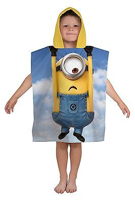 New Despicable Me Minions Bello Poncho Towel Boys Girls Kids Beach Bath Swimming