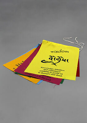 Tibetan Affirmation Prayer Flags for PEACE LOVE & HAPPINESS