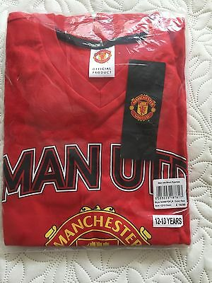 Manchester United FC Official Football Gift Boys Short Pyjamas 12-13 years