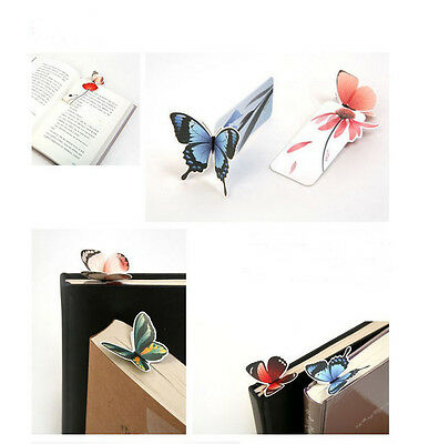 New 3D Butterfly Bookmarks For Beautiful Birthday Gift cute bookmark 1PCS KS