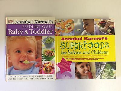 2 x Annabel Karmel  Superfoods for Babies & Children Feeding your Baby & Toddler