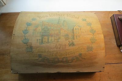 Old Dutch cigar box, wood, advertising, dovetail, tobacco