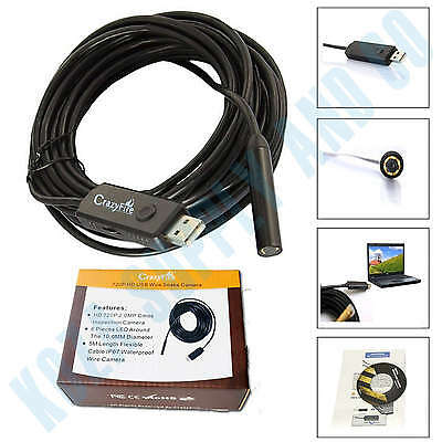 Pipe Inspection Camera Tube Sonde Video Sewer Drain Waterproof Cleaner 15 ft HD