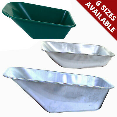 Replacement Spare Wheelbarrow Tray Pan Universal Fitting Metal Plastic No Holes