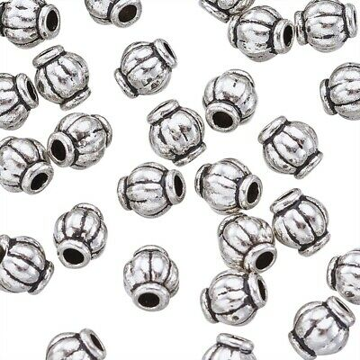 100pcs Tibetan Silver Metal Spacer Beads for Jewellery Making Antique Silver 4mm