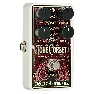 Electro-Harmonix EHX Tone Corset Analog Compressor Guitar Effects Pedal +Picks