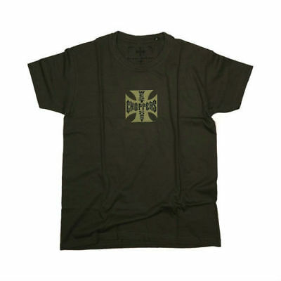 West Coast Choppers Og Cross T-Shirt - Solid Khaki - **100% Original Wcc**