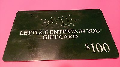 $100 Lettuce Entertain You Gift Card - New - unused - NOT used