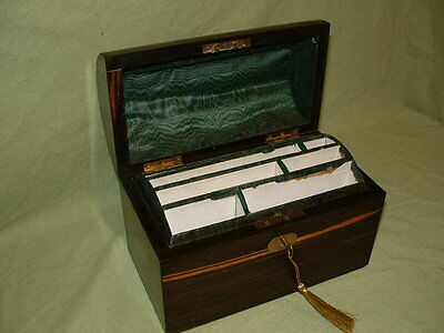 Inlaid Coromandel Stationery Box. C1875 (3341)