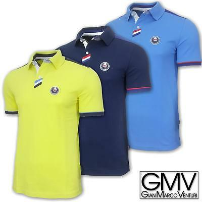 Polo uomo manica corta GIANMARCO VENTURI 100% cotone piquet regular fit