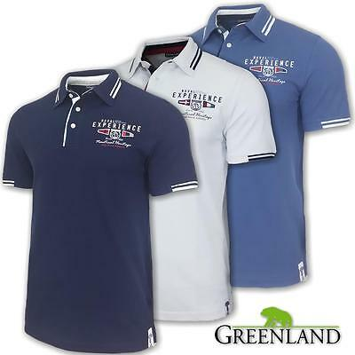 Polo uomo manica corta regular fit GREENLAND 100% cotone piquet