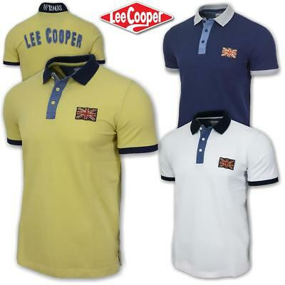 Polo uomo manica corta LEE COOPER regular fit 100% cotone piquet