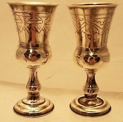 Silver Pair of Vodka / Shot Cups