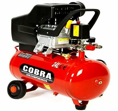 New Cobra Air Compressor 24L Liter Electric 9.6Cfm 2.5Hp 230V115Psi Portable