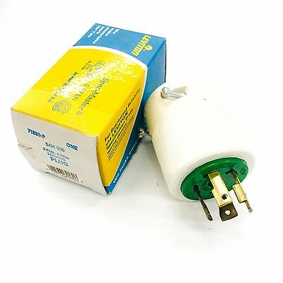 Leviton Pro Grade 70630-C 30-Amp 2 Pole 3 Wire Locking Plug 2//Box