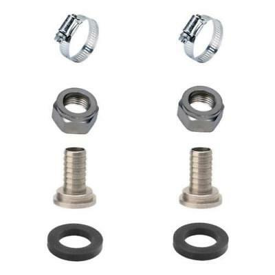 "2 Sets Draft Beer Tubing Tailpiece Barb Hex Nut Clamp Nipple Kit - 3/8"" Inch ID"