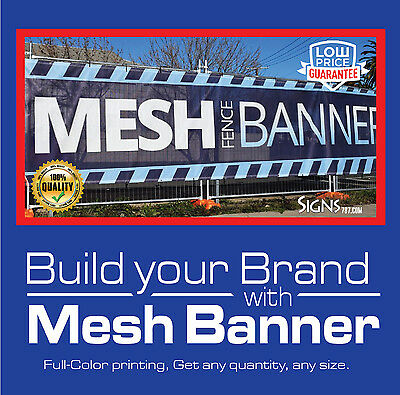 3' x 8' Custom Mesh Banner Full Color High Quality-FREE SHIPPING- CMB