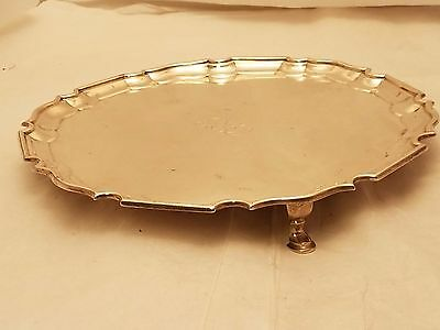 Sterling Silver Footed Tray by Chrichton