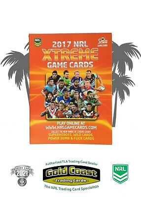 2017 Nrl Xtreme Game Trading Card Album With Full Base Set - 160 Cards