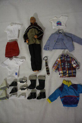 Lot of Mattel KEN DOLL Clothes, Shoes & Accessories: 23Pcs Total- Doll Included!