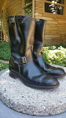 Vintage Buco 1950s Engineer Black Horsehide Leather Motorcycle Boots MINT Sz 10
