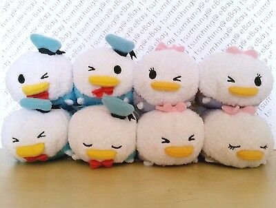 Japan Disney Store Donald Daisy Duck Expression Tsum Tsums - Set of 8