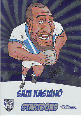 2017 Nrl Traders Startoons Album Card - Sta3 Sam Kasiano Canterbury Bulldogs