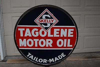 Old Skelly Tagolene OIl Porcelain Sign