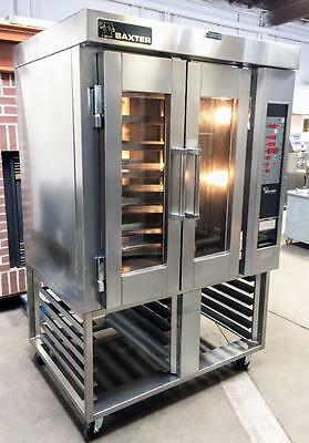 Baxter Hobart Ov300G Industrial Bakery Gas Mini Rotating Rack Oven 12 Pan Stand