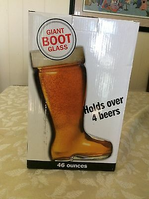 Glass Beer Boot 46 Oz - Glass Boot Holds over 4 Beers!