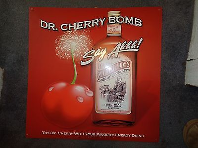 DR MCGILLICUDDY'S CHERRY BOMB TIN SIGN - Brand New NEAT SIGN! 22 X 22 IN doctor