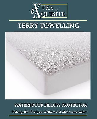 NEW WATERPROOF MATTRESS PROTECTOR TERRY TOWEL Bed Cover Fitted Sheet KING SIZE