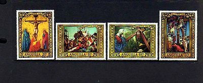 Anguilla - 1970 - Easter - Cross - Calvary - Paintings - Mint - Mnh - Set!