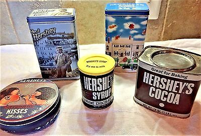 Lot of 5 Hershey's Chocolates Vintage Inspired Collectible Tins and Containers-1
