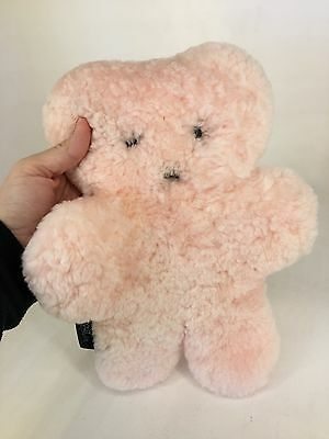 Flat Out Bear - Pink Sheepskin SOFT Plush Comforter - Large Size
