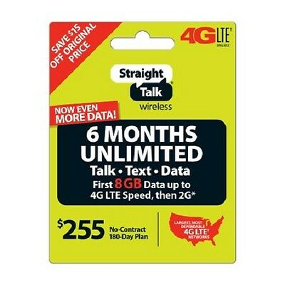 Straight Talk 6 Months Refill Card