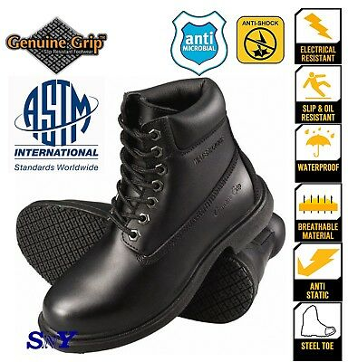 Men Steel Toe work boot sneakers construction shoe Slip resistant ASTM rated DH