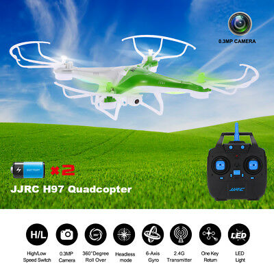 360°Flips FPV Selfie Mode HD Camera Remote Control Quadcopter Drone +2 Battery